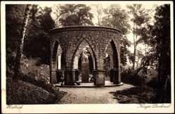 Postcard Hersbruck Mittelfranken in Bayern, Blick auf das Kriegerdenkmal, Rundhalle