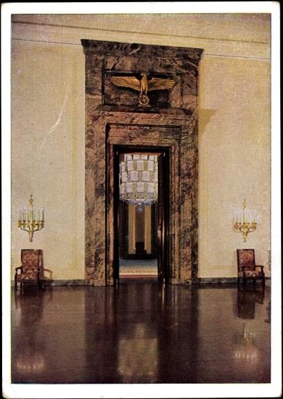 ansichtskarte postkarte berlin neue reichskanzlei. Black Bedroom Furniture Sets. Home Design Ideas