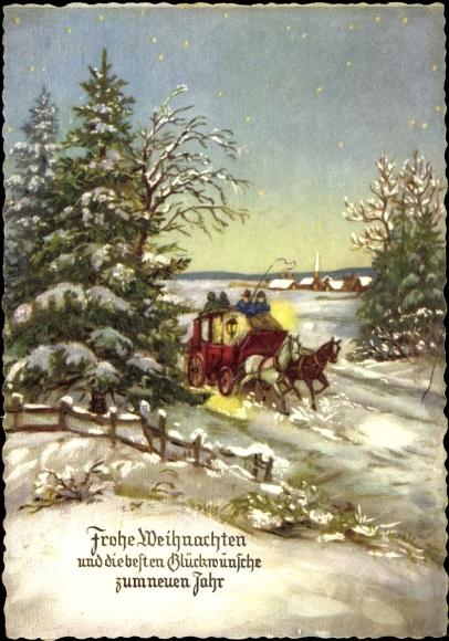 ansichtskarte postkarte frohe weihnachten und die besten. Black Bedroom Furniture Sets. Home Design Ideas