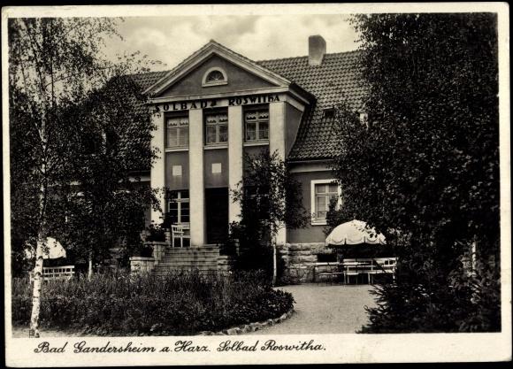 ansichtskarte postkarte bad gandersheim am harz partie. Black Bedroom Furniture Sets. Home Design Ideas
