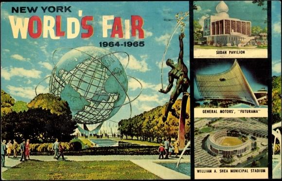 Postcard New York Weltausstellung World 39 s Fair