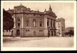 Postcard Ljubljana Slowenien, Opera, Blick auf die Oper