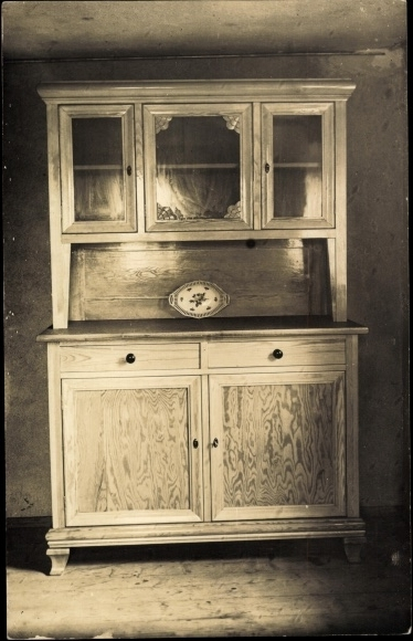 foto ansichtskarte postkarte jugendstil m bel schrank. Black Bedroom Furniture Sets. Home Design Ideas