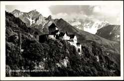 Postcard Vaduz Liechtenstein, Ansicht vom Schloss, Panorama, Gebirge