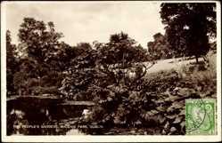 Postcard Dublin Irland, The people's gardens, Phoenix Park