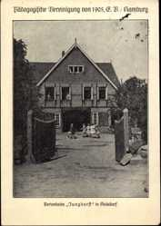 Postcard Hoisdorf, Blick auf das Ferienheim Junghorst, Pädagog. Vereinigung von 1905