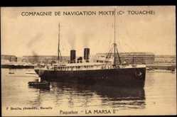 Postcard Compagnie de Navigation Mixte, Cie. Touache, Paquebot La Marsa II