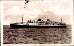 Postcard Port Vendres, Compagnie de Navigation Mixte, Dampfschiff El Mansour