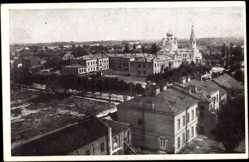Postcard Brest Litowsk Weißrussland, Teilansicht der Stadt, Russ. Orthodox. Kirche