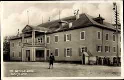 Postcard Cetinje Montenegro, Dvor, Blick auf ein Haus, Straßenansicht