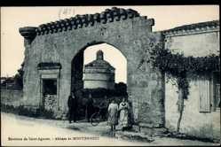 Cp Montierneuf Loir et Cher, vue générale de l'Abbaye