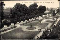 Cp Usse en Indre et Loire, Le Chateau, vue des Terrasses