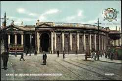 Postcard Dublin Irland, Bank of Ireland, College Green, Straßenansicht, Straßenbahn