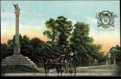 Postcard Dublin Irland, Phoenix Monument, Phoenix Park, Entrance to Viceregal Lodge