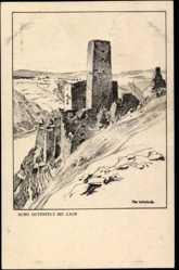 Künstler Ak Ubbelohde, Otto, Kaub, Ansicht der Burg Gutenfels