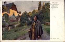 Künstler Ak Nowak, Otto, Österr. Komponist Franz Schubert, Das Wandern, BKWI