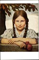 Künstler Ak Zumbusch, Ludwig von, Das Luiserl, Mädchen, Portrait
