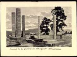 Postcard Saarbrücken a.d. Saar, Ehrenmal für die Gefallenen des Weltkrieges