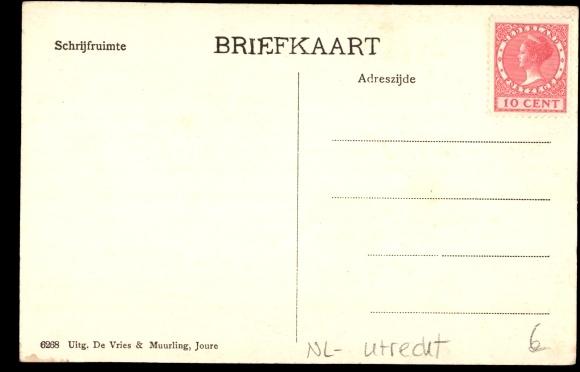 Rückseite Ansichtskarte / Postkarte Boschoord bij Huis ter Heide Utrecht, Villa, Vorgarten