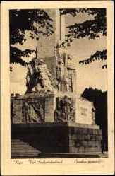 Postcard Riga Lettland, Ansicht vom Freiheitsdenkmal, Brivibas piemineklis