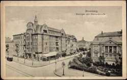 Ak Bydgoszcz Bromberg Posen, Danziger und Bismarckstraße