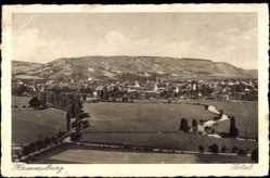 Postcard Hammelburg Unterfranken, Panoramablick auf den Ort mit Landschaft