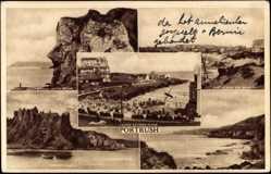 Postcard Portrush Irland, Giants Head, White Rocks, Castle Erin, Dunluce Castle