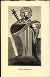 Künstler Ak Prinz Vladimir von Mazedonien, Abgeschlagener Kopf