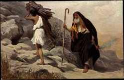 Künstler Ak Leinweber, Rob., Die Heilige Schrift, Aufopferung Isaak's
