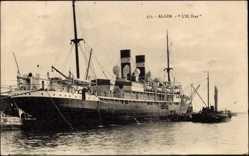 Postcard Alger Algier Algerien, Compagnie de Navigation Mixte, Paquebot L'El Biar