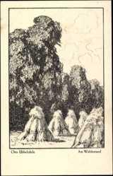 Künstler Ak Ubbelohde, Otto, Am Waldesrand, Heimatbuch