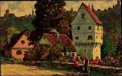 Künstler Ak Zeltner, Philipp, Rothenburg o.T., Topplerschlösschen