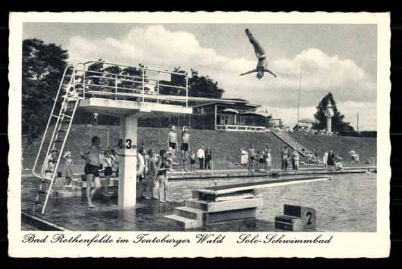 Ansichtskarte postkarte bad rothenfelde teutoburger wald for Schwimmbad bad rothenfelde