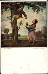 Künstler Ak Zumbusch, Ludwig von, Die kleinen Apfeldiebe