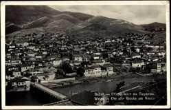 Postcard Veles Mazedonien, Blick auf die Alte Brücke am Wardar