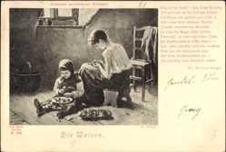 Künstler Ak Zewy, K., Die Waisen, Galerie moderner Meister, Kinder