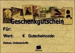 20€ Geschenkgutschein für Ansichtskarten, Old Fashion
