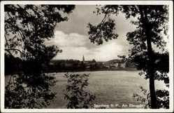 Ak Torzym Sternberg Neumark Ostbrandenburg, Blick zum Eilang See