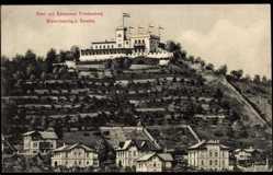 Ansichtskarte / Postkarte Niederlössnitz Radebeul, Hotel und Restaurant Friedensburg