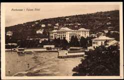 Postcard Portorose Slowenien, general view of the Palace Hotel