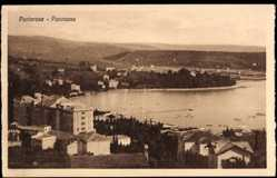 Postcard Portorož Portorose Slowenien, Panorama der Ortschaft