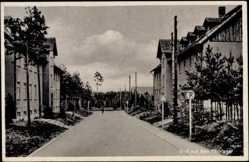 Ak Tiborlager bei Świebodzin Schwiebus Ostbrandenburg, Militärgebäude, Straße
