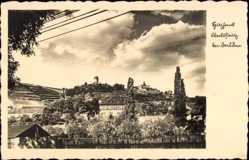 Ansichtskarte / Postkarte Oberlößnitz Radebeul, Ansicht vom Spitzhaus, Turm