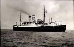 Postcard Dampfschiff New York der HAPAG in Fahrt, Ansicht Bug Backbord