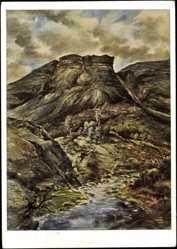 Künstler Ak Vahle, Fritz, Berge im nördlichen Lappland