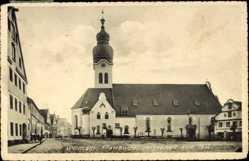 Postcard Wolnzach, Blick auf die Pfarrkirche am Marktplatz