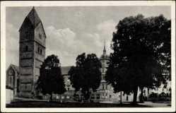 Postcard Scheyern, Blick auf das Kloster, Kirche, Benediktiner