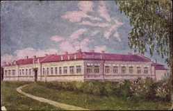 Künstler Ak Kowel Ukraine, Blick zum Spital, Gartenseite