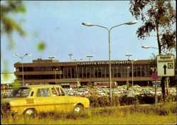 Postcard Berlin Schönefeld, Zentralflughafen, Parkplätze