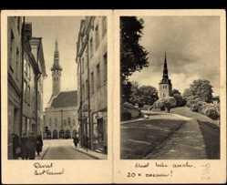 Klapp Ak Tallinn Reval Estland, Straßenansicht, Kirche